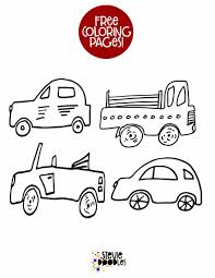You can use our amazing online tool to color and edit the following cars 2 printable coloring pages. 4 Little Cars Free Printable Coloring Page 1 Stevie Doodles