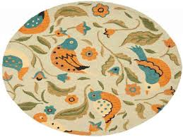 blossom sage multi green multi 8 ft x 8 ft round area rug yellow rug