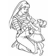 Disegno Di Barbie Ed Il Coniglio A Colori Per Bambini