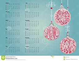 christmas calendar background.  Background 2016 Calendar With Christmas BallgarlandswishesNew Year Holiday Vector  BackgroundHandwrigting Lettering In The Ball ShapesOrnate Swirling Decor On Background O