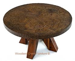 industrial chic round dining table