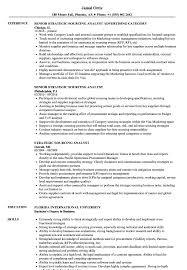 Strategic Sourcing Analyst Resume Samples Velvet Jobs