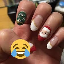 冬クリスマスハンドホワイトレッド ちゅたんのネイルデザインno