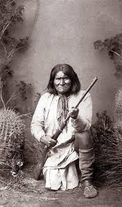 Geronimo Native American Indian With Rifle Chief Apache Leader Indigenous Americans Tribe Wall Art Print Photo