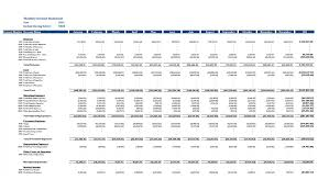 Monthly Profit And Loss Statement Template Gl Monthly Income Statement Sample Reports Dashboards