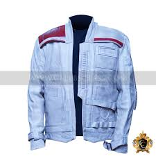 star wars finn leather jacket waxed front