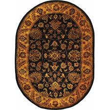 safavieh golden jaipur black gold wool area rug 7 6 x 9 6
