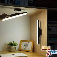 Đèn Led dài dán tường tích điện 1800mAh sạc USB gắn nam châm để bàn học bàn  làm việc 4 chế độ sáng cảm ứng điểm chạm