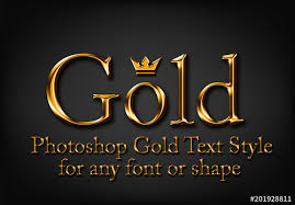 Shiny Gold Text Style Buy This Stock Template And Explore