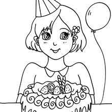 Small Picture Girl with a birthday gift coloring pages Hellokidscom