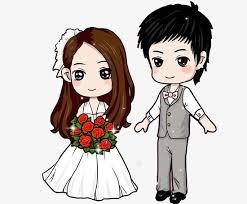 Cute Couple Png Q Version Cute Couple Wedding Cute Clip 661887 Png
