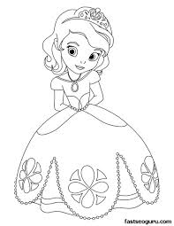 Small Picture Printable cute princess Sofia coloring pages for girls coloring