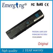 10.8V 48Wh <b>New Original Laptop Battery</b> for Toshiba Satellite ...
