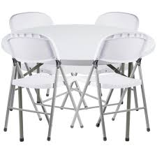 lancaster table seating 48 round granite white heavy duty blow molded plastic folding table with