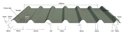 our galvanised steel box profile roofing sheets are available as 28 100 32 100 or 34 100 and in thicknesses of 0 5mm and 0 7mm