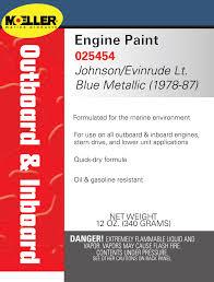 Engine Paint Color Johnson Evinrude Light Blue Metallic