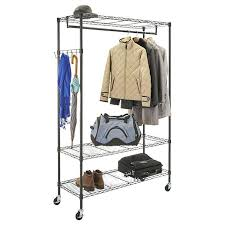 costco clothes rack wardrobe racks clothes rack collapsible laundry basket big rolling wire garment rack with