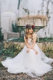 garden wedding dress. bride sitting in garden courtyard | secret wedding sarah mattix photography dress