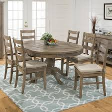 slater mill pine reclaimed pine round to oval  piece dining set