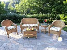 decorating with wicker furniture. Decorating: Wicker Armchair With Green Lowes Patio Cushions For Decorating Furniture I