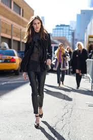 black leather skinnies bow blouse ruffles velvet jacket leather jacket pantssuit