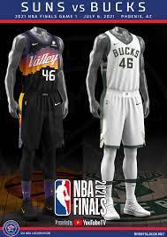 2021 NBA Finals Between Bucks and Suns ...