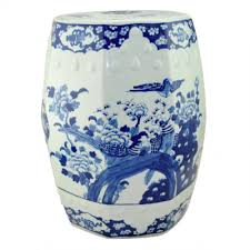 chinese garden stool. Simple Chinese Ceramic Stool Hexagon  Blue White Garden  Chinese Ceramic Coin Stools  Hong Kong Home Essentials In Stool O