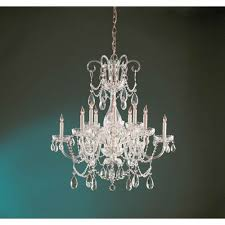 crystorama lighting group traditional polished brass six light chandelier with hand cut clear crystals
