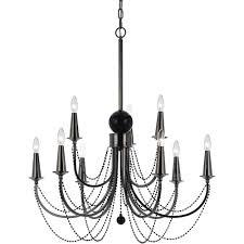 af lighting 8449 9 light nickel chandelier