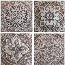 mandala wall art made from ceramic exterior wall art mandala art mandala wall on outdoor wall art ceramic with mandala wall art made from ceramic from gvega on etsy