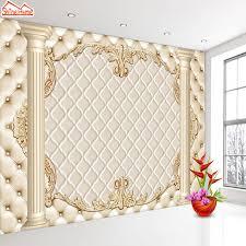 shinehome large custom european soft roll pillar 3d contact paper 3d modern living room wall