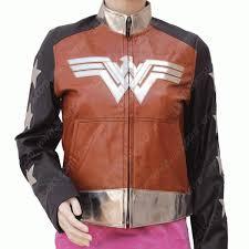 wonder woman diana prince leather jacket