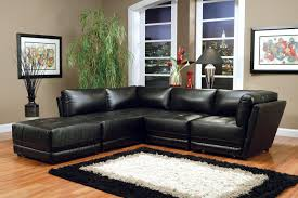 bonded leather black sectional