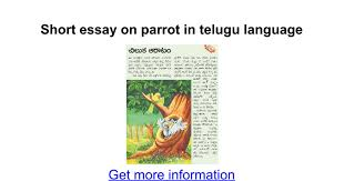short essay on parrot in telugu language google docs