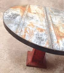 fancy design zinc top round dining table 44