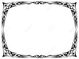 simple frame tattoo. Perfect Simple Simple Black Tattoo Ornamental Decorative Frame Isolated Stock Vector   16557337 Inside Simple Frame Tattoo M