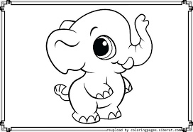 Small Picture Cute Elephant Coloring Pages Baby Elephant Template Coloring