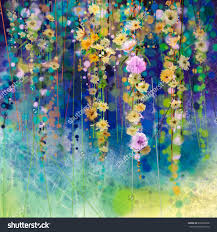ilration and painting stock photos images pictures abstract fl watercolor hand painted white yellow red flowers in soft color