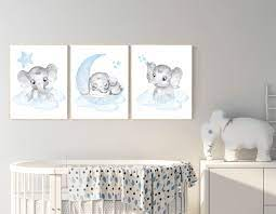 See more ideas about crafts, nursery decor, diy. Nursery Decor Elephant Nursery Decor Boy Nursery Wall Art Elephant Baby Room Decor Boy Elephant Nursery Art Baby Boy Nursery Art