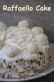 Raffaello Cake Recipe Eggless Coconut Almond Layer Cake Recipe