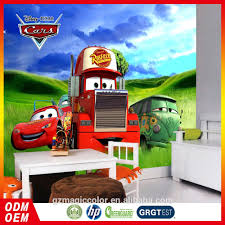 Kids 3d Speelgoed Auto Cartoon Behang Nieuwe Ontwerp Kinderkamer