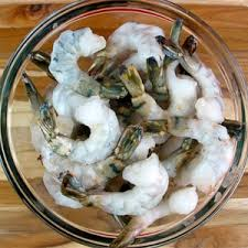 uncooked shrimp. Wonderful Uncooked Large Uncooked Shrimp And A