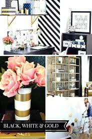 white office decors. White And Gold Desk Accessories Office Decor Blog Makeover Plans Black Inspiration Decors L