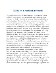 over pollution essay pollution