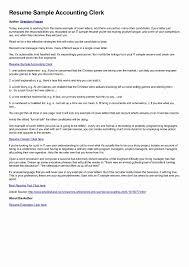 Sample Accounts Receivable Clerk Cover Letter 10 Cover Letter For Accounting Clerk Resume Samples