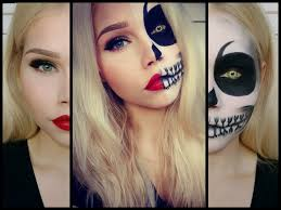 half skull half pretty face make up vanessa herold you