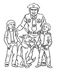 Small Picture Police Officer Make Friend with Kids Coloring Page NetArt