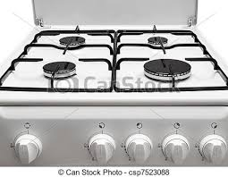 gas stove clipart black and white. gas stove - csp7523088 clipart black and white
