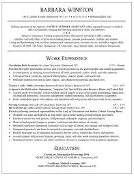 Clerical Resume Examples Brilliant Ideas Of Administrative Resumes