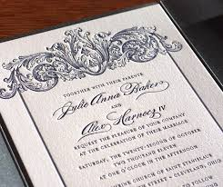 Baroque Wedding Invitations Joint Host Wording For Wedding Invitations Letterpress Wedding